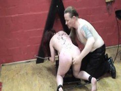 Masochistic slave fisted by...